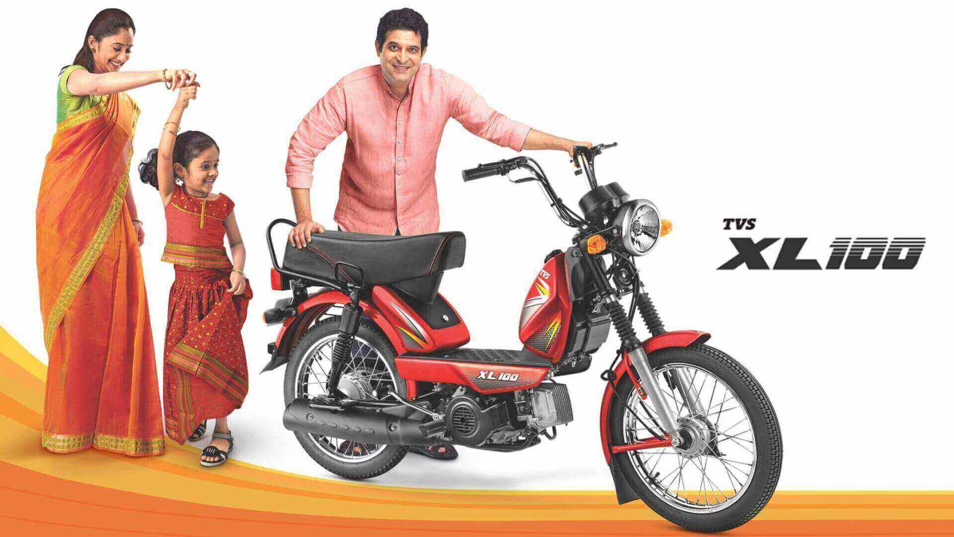 TVS XL 100 vehicle for family rides together